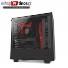 NZXT H500 MATTE BLACK/RED – TEMPERED GLASS